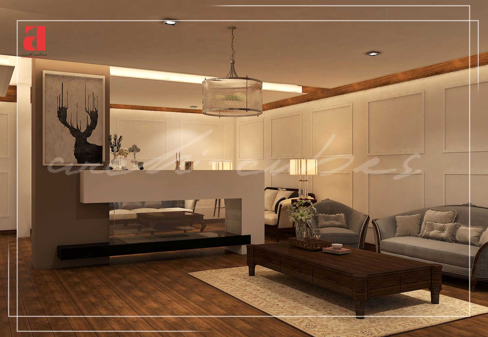 Home lounge interior design in bahria town lahore archi cubes