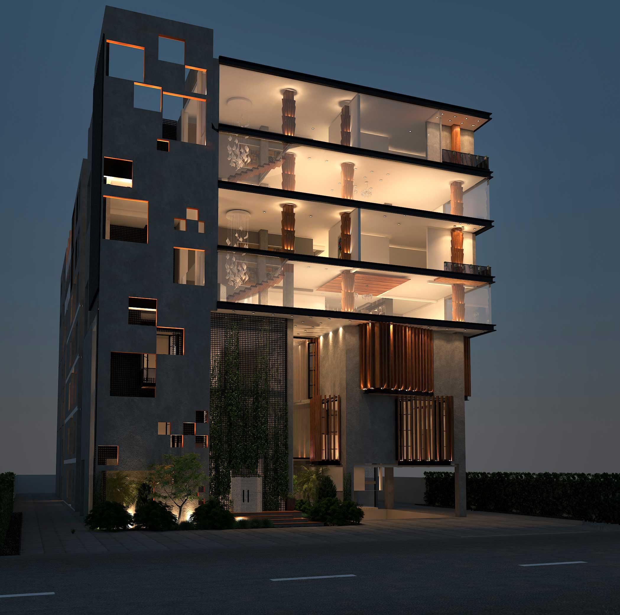 Modern Commercial Plaza Interior & Exterior Design